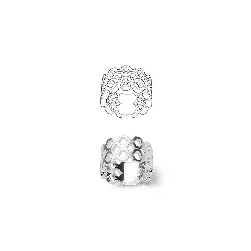 Plisee Ring - Ring - Silberkollektion